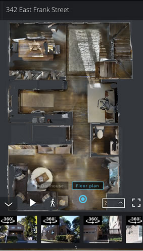 Virtually 3D Tour - Overhead Floorplan View Virtual Reality